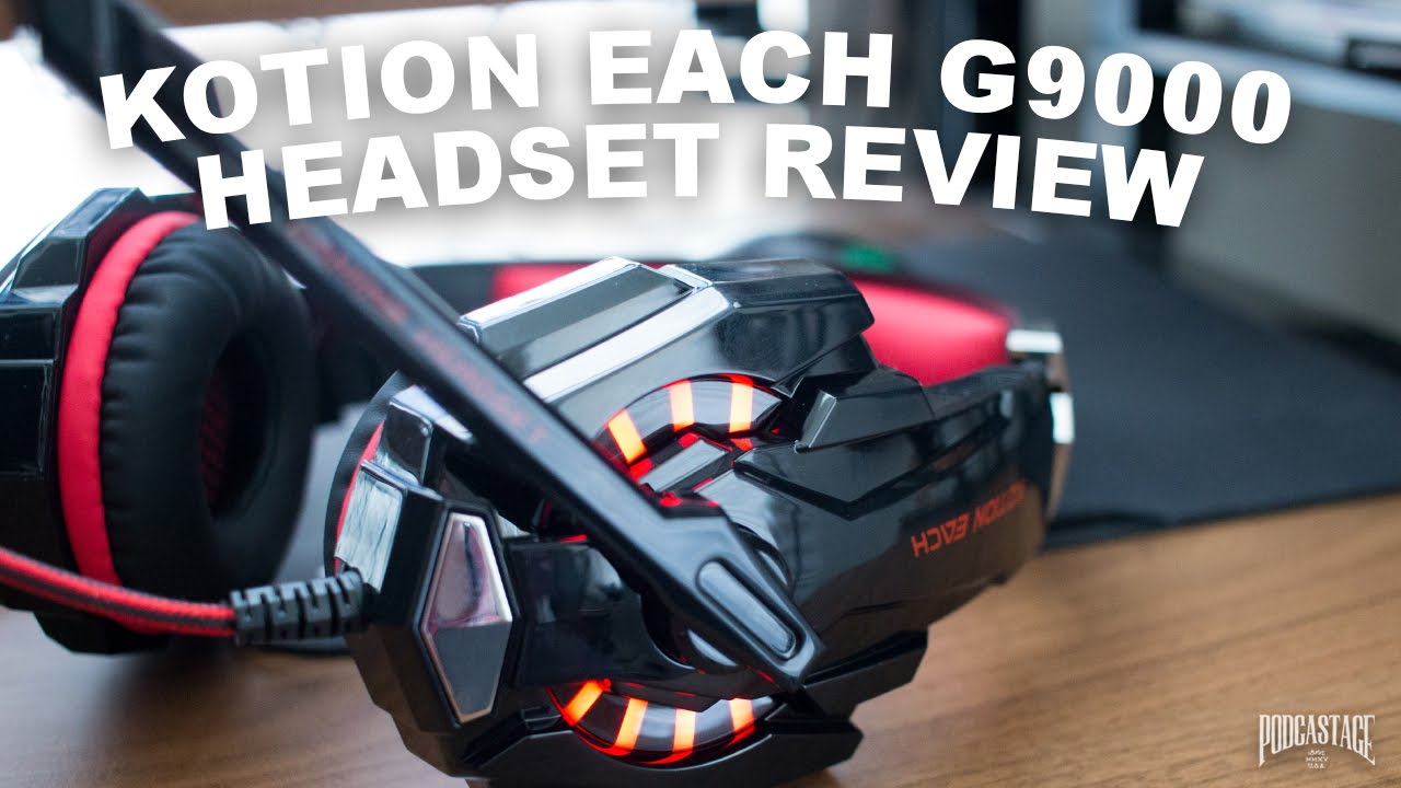 Kotion Each G9000 Gaming Headset Review Test Youtube