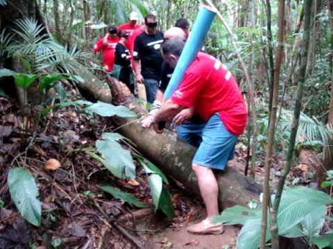 Equipe Rio Deserto na trilha...