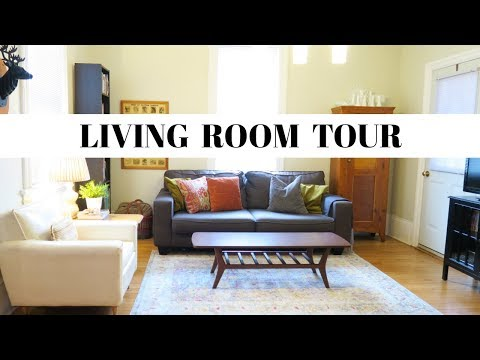 Living Room Tour | Eclectic Vintage Modern Space | Thrifty Home Decor