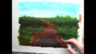 Paint a Dirt And Gravel Road ,Acrylic painting for beginners, #clive5art