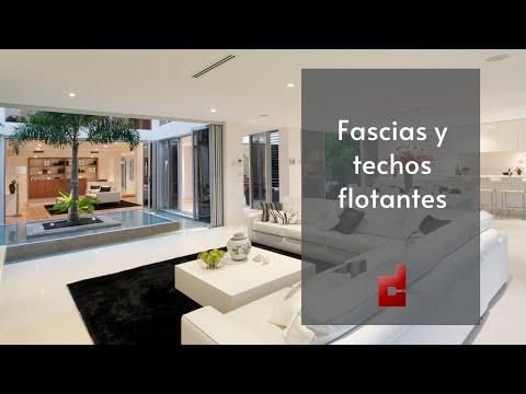 Ideas de fascias y techos flotantes youtube for Techos en drywall para habitaciones