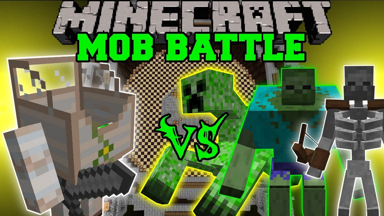 Mecha Golem Vs Mutant Zombie Mutant Creeper Amp Mutant