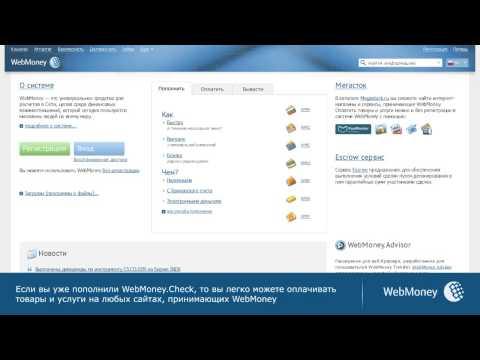 Оплата товаров с помощью WebMoney Check