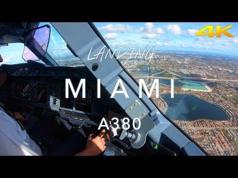 MIAMI   A380 LANDING 4K
