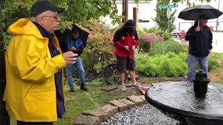 Old watering trough rededicated to Rockland