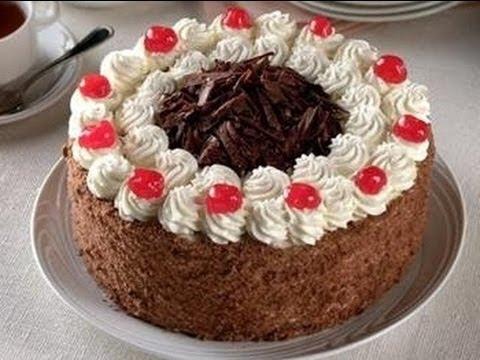 Receta torta selva negra casera facil y deliciosa for Tortas decoradas sencillas
