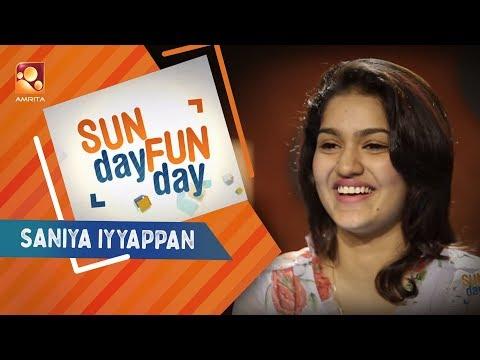 SANIYA IYYAPPAN|Sunday Funday | Amrita TV