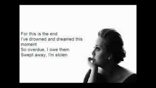 Video Adele - Skyfall [Lyrics On Screen HD] download MP3, 3GP, MP4, WEBM, AVI, FLV Mei 2018