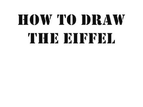 how to draw the eiffel tower youtube