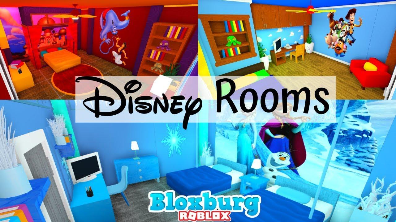 themed disney rooms bloxburg roblox mamabear youtube