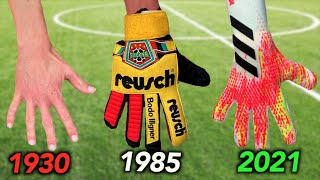 Testing Goalkeeper Gloves from 1930 to 2021 - how much have they changed?