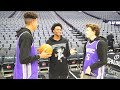 CRAZY BASKETBALL TRICKSHOTS   INSIDE NBA ARENA FT DE AARON FOX
