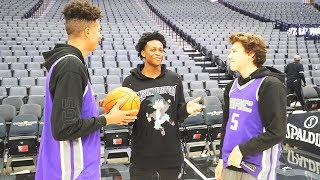 CRAZY BASKETBALL TRICKSHOTS!! INSIDE NBA ARENA FT DE'AARON FOX