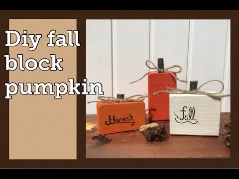 DIY Fall decor (Block pumpkins) 🎃
