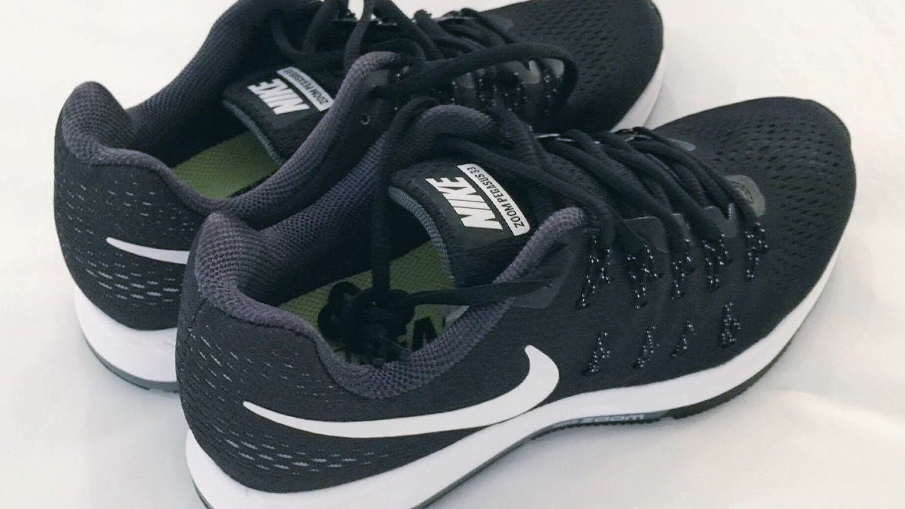 78ede8d5df750 Nike Air Zoom Pegasus 33 Black Cool Grey Wolf Grey White Running ...