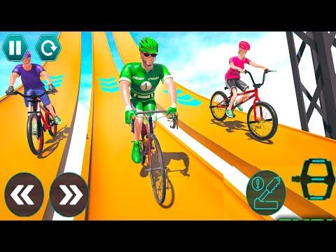 Cycle Stunt Racing Impossible Tracks - Mega Ramp Bicycle - Android Gameplay #19 thumbnail