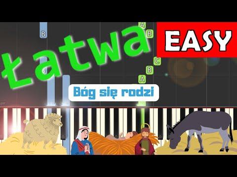 🎹 Bóg się rodzi - Piano Tutorial (łatwa wersja) 🎹