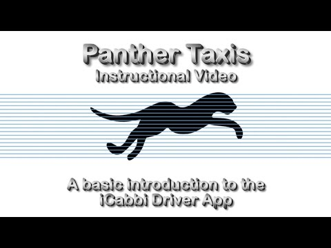 Panther Taxis: iCabbi Driver App (Basic Introduction)