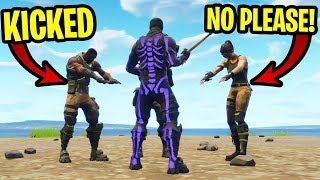 I became the LEADER of a Fortnite Team & KICKED all the members...
