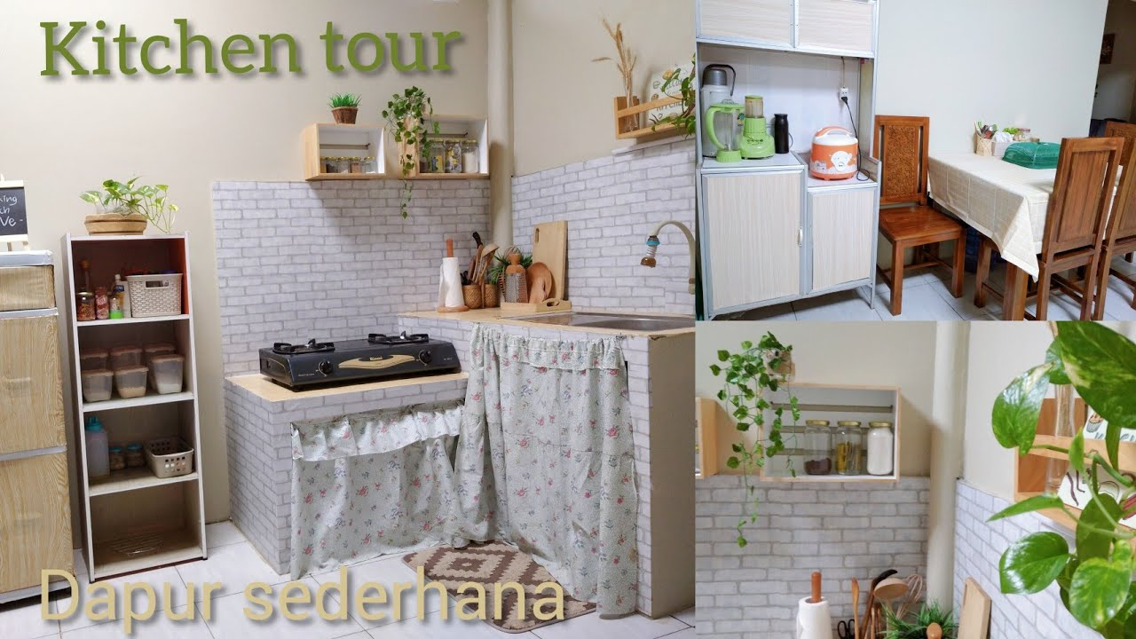 Kitchen Tour Update 2020 Tour Dapur Minimalis Sederhana Tanpa Kitchen Set Dapur Low Budget Youtube