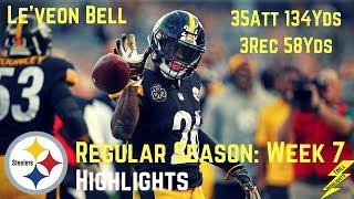 Le'veon Bell Week 7 Regular Season Highlights Special!   10/22/2017