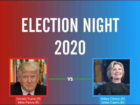 2020 Election Night | Donald Trump vs Hillary Clinton