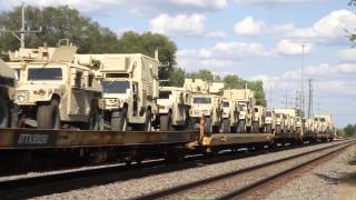 America Is Getting Ready for Martial Law - A Big Army Train Goes By