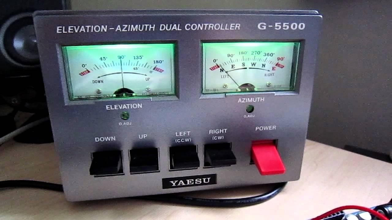 Controlling Yaesu G-5500 Rotator from an Arduino