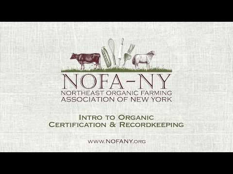 Introduction to Organic Certification and Record Keeping