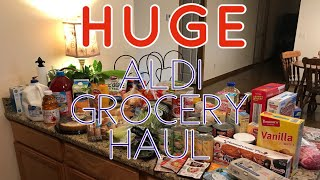 HUGE Aldi Grocery Haul | | Family of 5