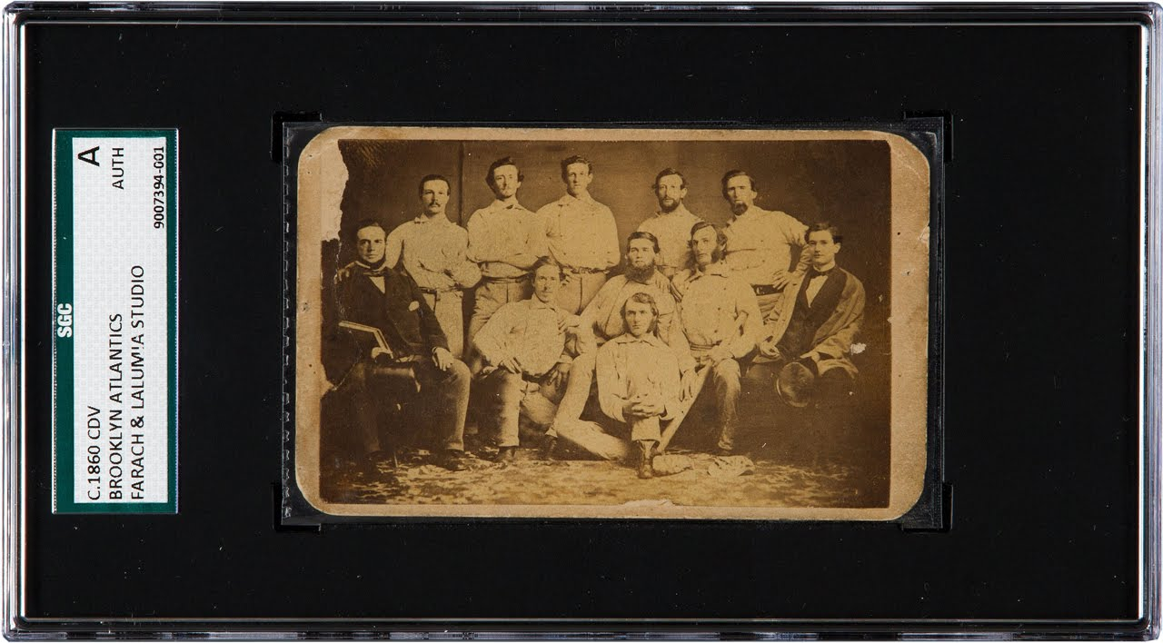 Oldest Known Team Baseball Card C 1860 Brooklyn Atlantics At Heritage Auctions July 30 2015