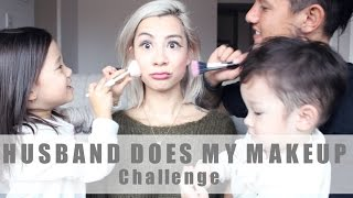 HUSBAND DOES MY MAKEUP + KIDS ARE HELPING #teamBachdim
