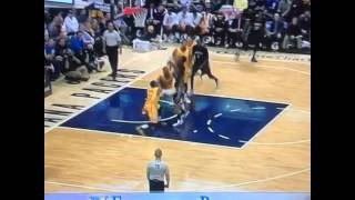 Andrew Wiggins scores with his own hand in his face