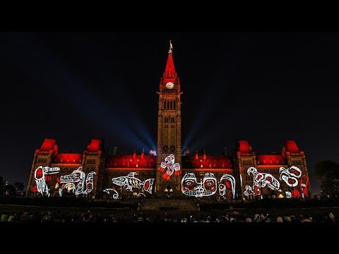 Ottawa Parliament Northern Lights Show 2017