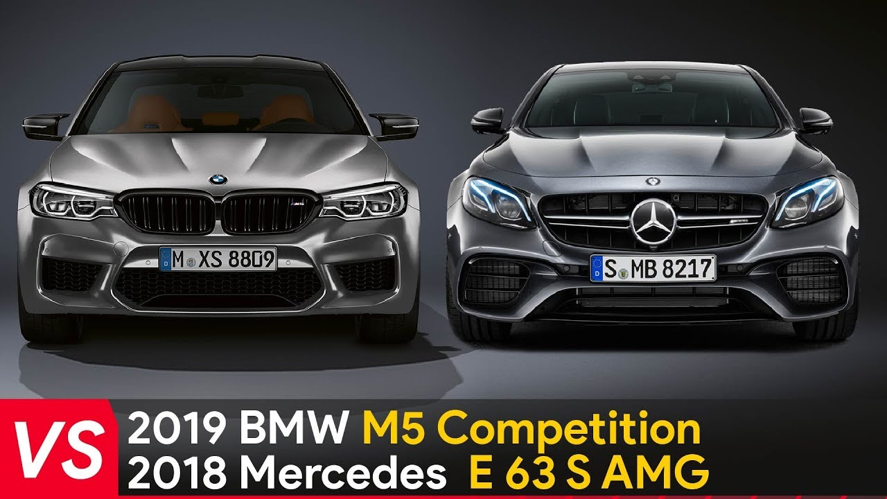 2019 bmw m5 competition vs mercedes e63 s amg ▻ sideside