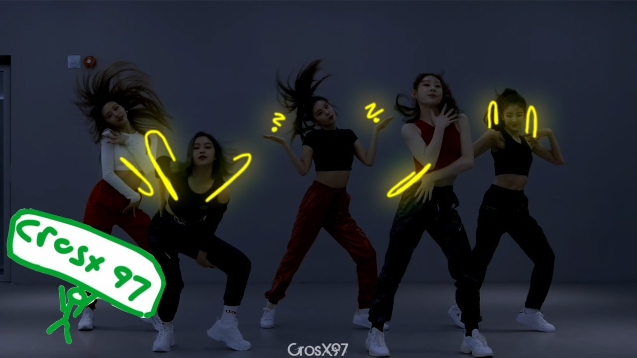"ITZY ""WANNABE"" Dance Practice with Scribble Effect"