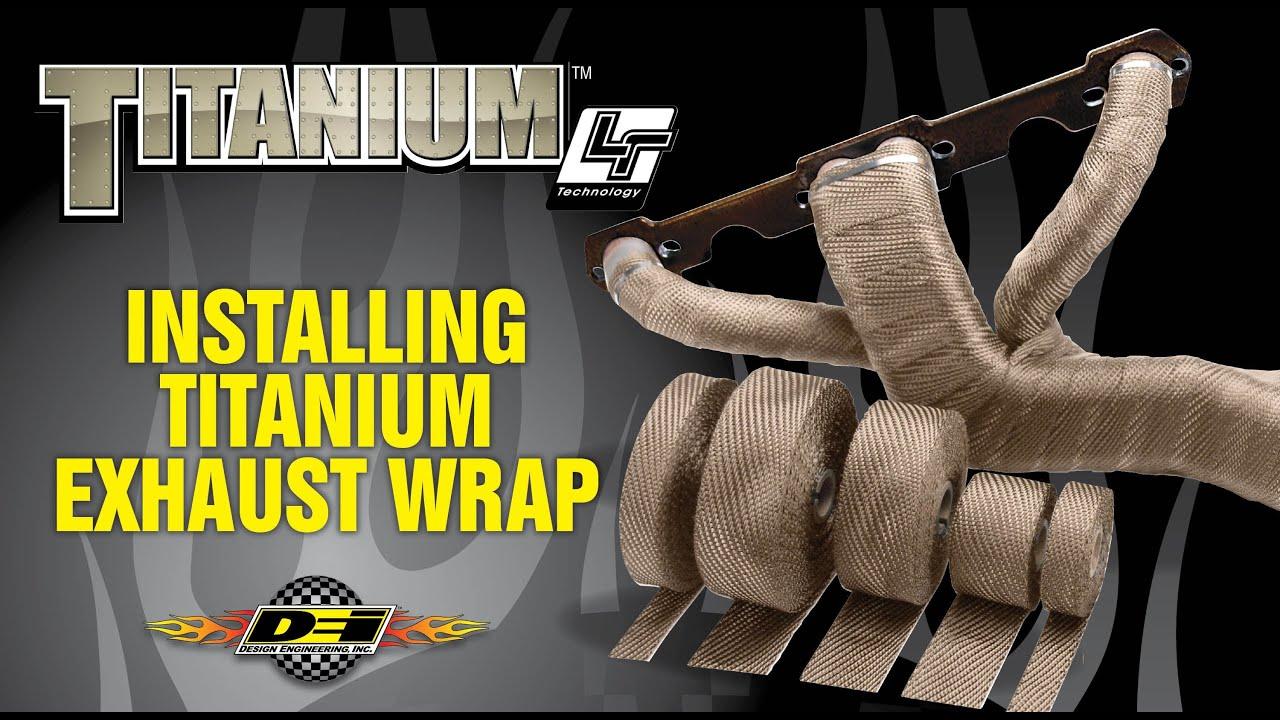 the original titanium exhaust wrap installation