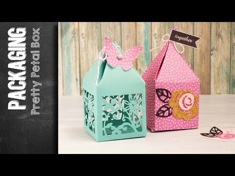 Pretty Petal Box - Sizzix die - processing video