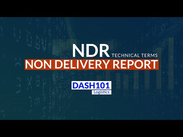 How to manage NDR on Dash101