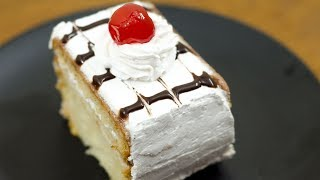 EGGLESS VANILLA PASTRY CAKE I WITHOUT OVEN