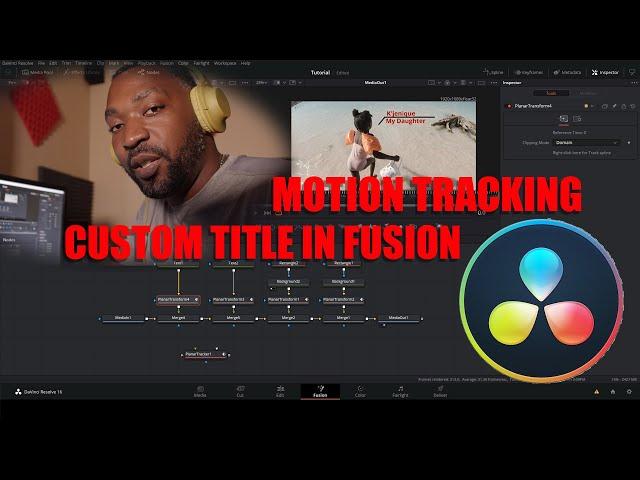 Dat Viva Guy | Making Custom titles | Motion track them | Davinci Resolve 16 | Fusion