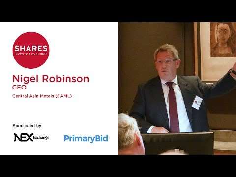 Nigel Robinson, CFO of Central Asia Metals (CAML)