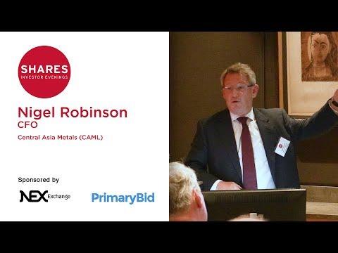 Nigel Robinson, CFO of Central Asia Metals (CAML)