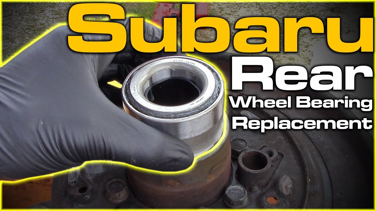 Subaru Outback Rear Wheel Bearing Replacement (Shop Press ...