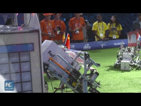 Chinese team takes part in  Mexico robotics competition