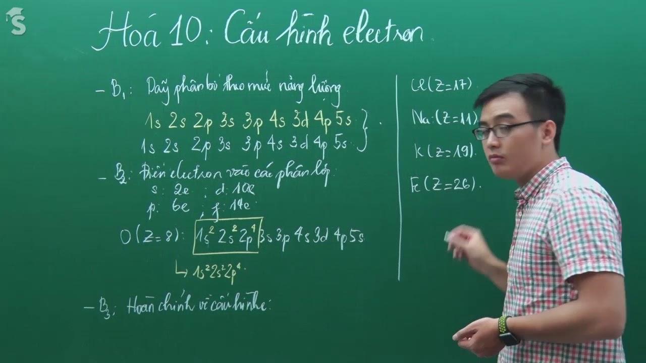 Cách viết cấu hình electron nguyên tử – Hóa Lớp 10 – Thầy Phạm Thanh Tùng