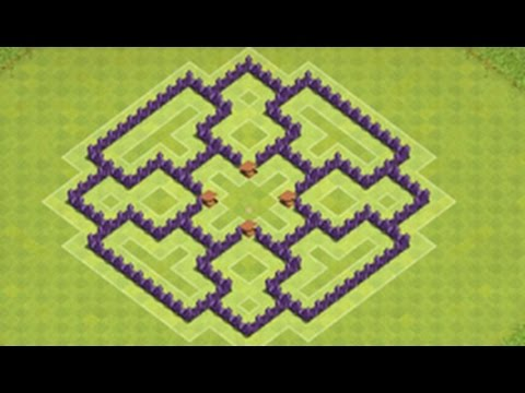 Clash Of Clans Town Hall 7 Defense Coc Th7 Best Trophy Base Layout Defense Strategy 2016 Youtube