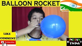 Balloon Rocket -Kids Science Projects ||Independence Special