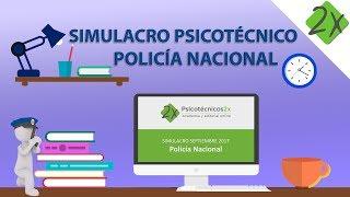 Test psicotécnico Policía Nacional corregido