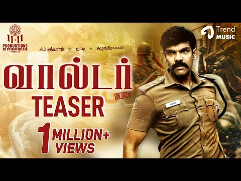Walter Tamil Movie Official Teaser | Sibi Sathyaraj | Shirin | Samuthirakani | Natty | U Anbu